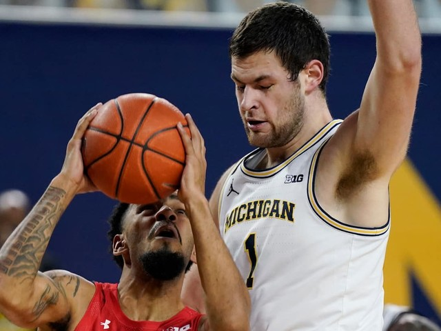 Maryland can't keep up with No. 7 Michigan and never leads during an 87-63 loss