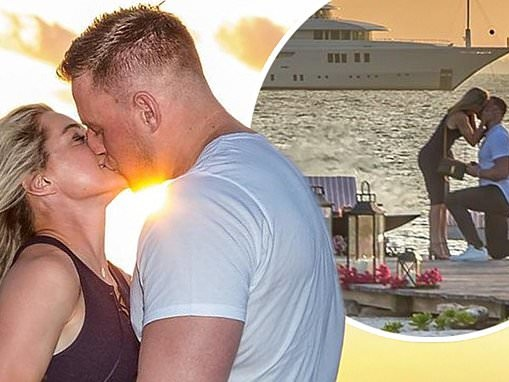 NFL star JJ Watt calls himself 'the luckiest man in the world' after getting engaged to Kealia Ohai
