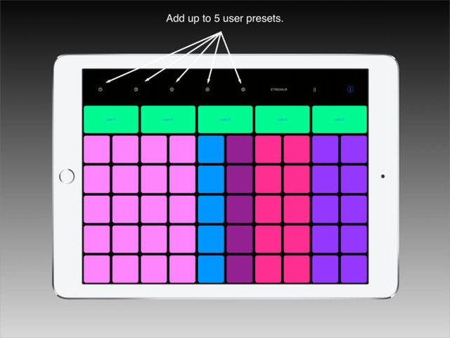 Streemur is an iOS streaming sound palette for experimental musicians, sound designers and artists