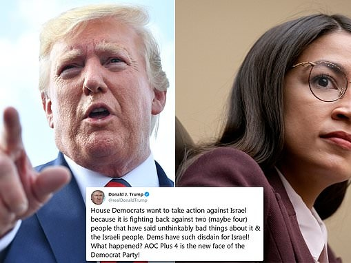 Trump calls AOC and her 'Squad' the new face of the Democrat party in Twitter attack