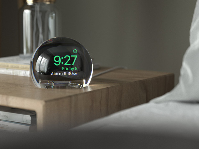This simple dock turns your Apple Watch into a bedside orb