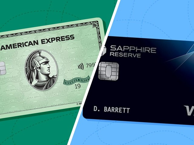 Amex Green vs. Chase Sapphire Reserve: Both cards earn bonus points on dining and travel, but which is best for you?