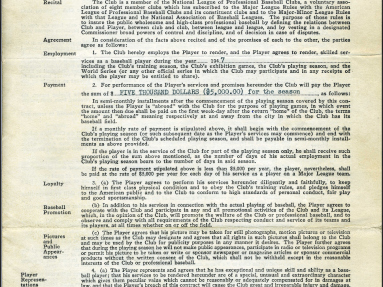 Sports Auction for the Record Books – Jackie Robinson's First Baseball Contracts