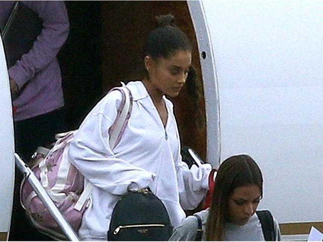 Ariana Grande Arrives Back in the UK For Her Manchester Benefit Concert