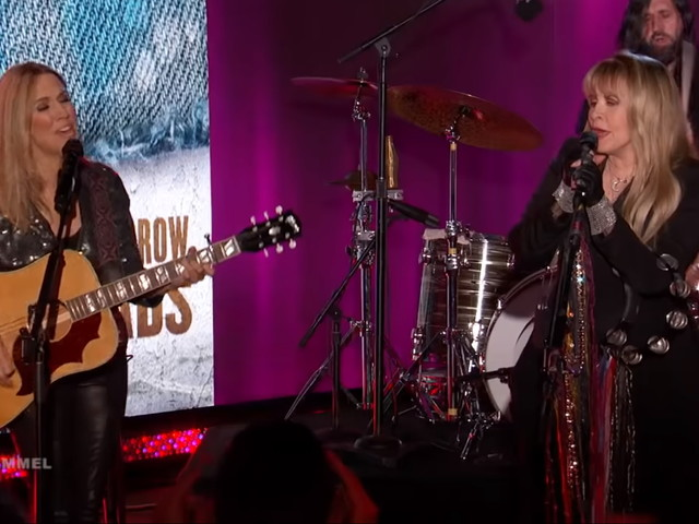 Sheryl Crow & Stevie Nicks Perform On 'Kimmel'