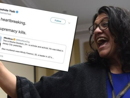 "Rep. Tlaib Blames ""White Supremacy"" For Shooting Carried Out By Black Supremacist Group"