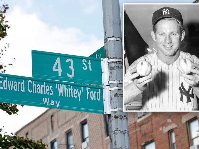 NYC street renamed after late Yankee Hall of Famer Whitey Ford