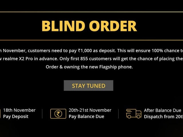 Realme Is Hosting a Blind Order Sale for Realme X2 Pro on Monday
