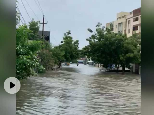 Several Areas In Hyderabad Flooded After Heavy Rain, Choppers Deployed