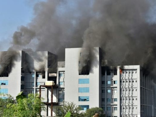 Fire Is Engulfing Plant Of World's Biggest COVID Vaccine Maker In India