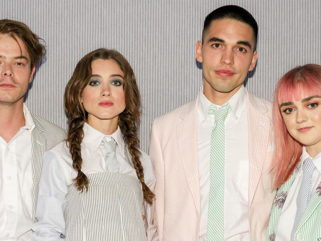 Maisie Williams, Natalia Dyer & Charlie Heaton Celebrate Seersucker Season at Thom Browne Dinner