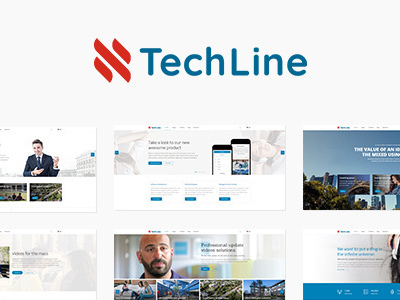 TechLine - Web services, businesses and startups Joomla template (Business)