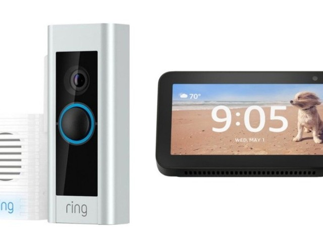 Ring – Video Doorbell Pro and Chime Pro Bundle + Free Echo Show 5 $179.99 (Reg. $389) at Best Buy