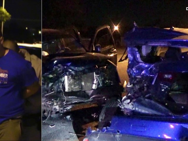 LA sheriff's deputy smashes into 5 parked vehicles in alleged off-duty DUI