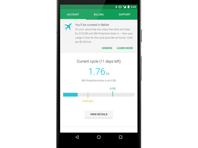 Project Fi will now let you know if you're covered ahead of international trips