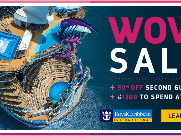 Royal Caribbean WOW Sale offers extra onboard credit and 50% off second passenger