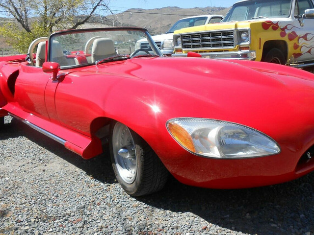 Real Life Frankenstein Mid-Engine 1968 Jaguar E-Type With Chevy V8, Taurus Lights, 240Z Seats