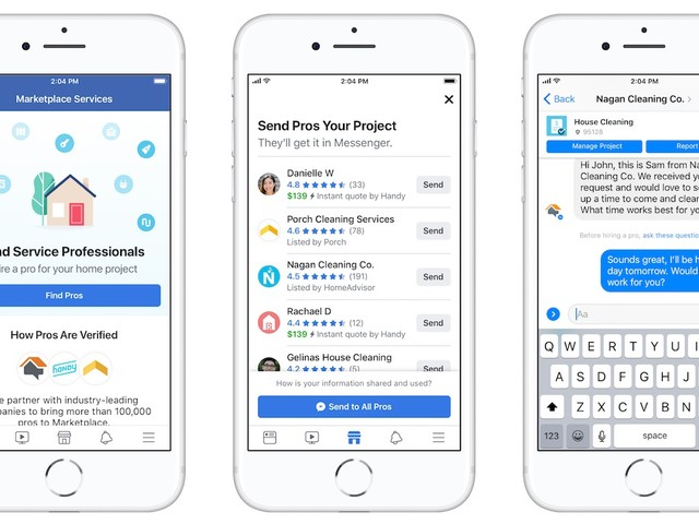 Facebook Marketplace Now Lets You Hire Home Service Professionals
