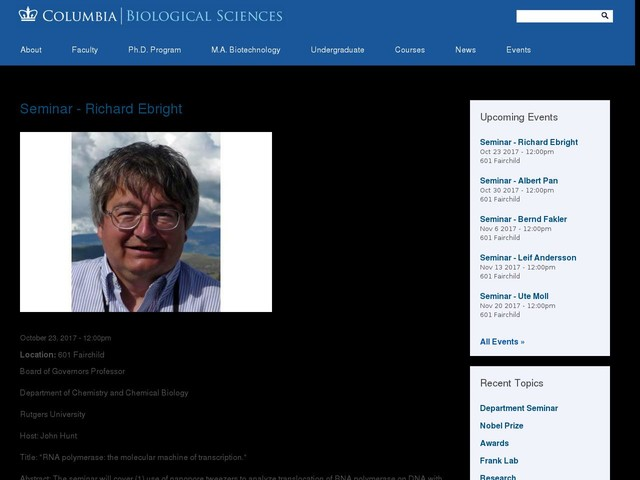Seminar - Richard Ebright