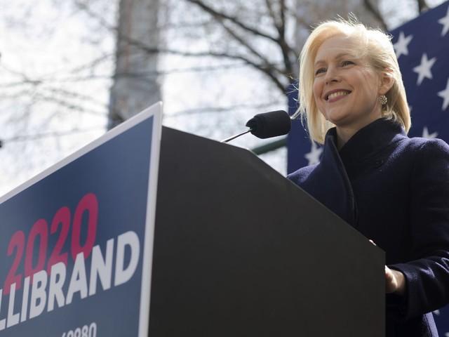 Kirsten Gillibrand attacks Donald Trump's manhood outside Trump International Hotel