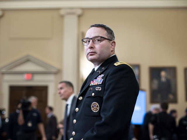 Lt. Col. Alexander Vindman to retire from military, cites Trump's 'campaign of bullying'