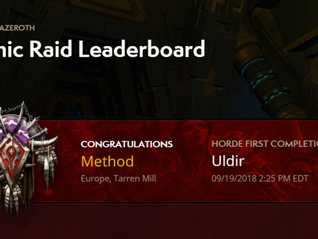 Horde Hall of Fame for Uldir Will Close at the End of This Reset