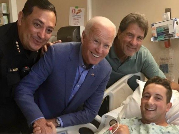 Then-Presidential Candidate Joe Biden Quietly Visited Injured Texas Police Officer In 2019