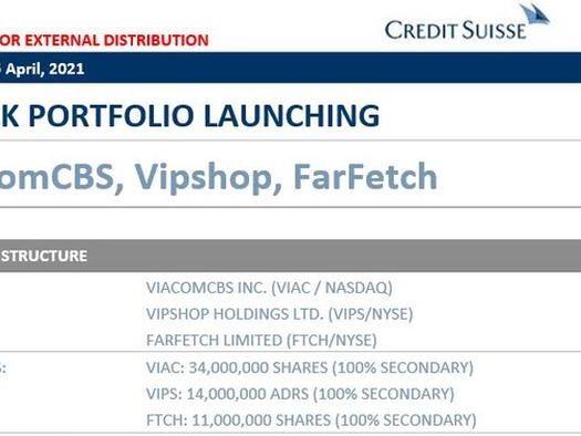 Credit Suisse Dumping Huge Archegos Blocks; Liquidating Millions In VIACS, VIPS And FTCH