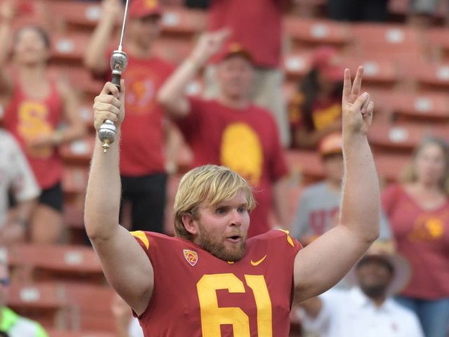 How USC's Jake Olson is trying to help cure the cancer that took his sight