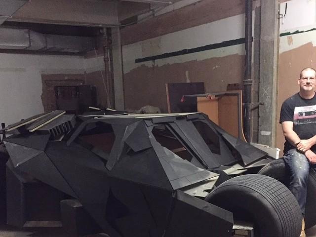 The Dave Knight Rises to Batman Challenge - Builds Life-size Bat Tumbler