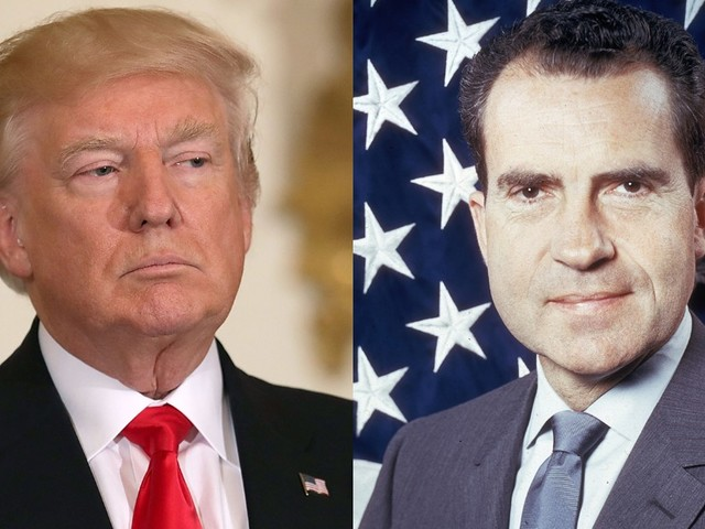 Watergate icon compares Trump and Nixon's final days