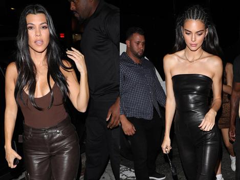Kourtney Kardashian & Kendall Jenner Dine At Same Place As Exes Younes Bendjima & Ben Simmons