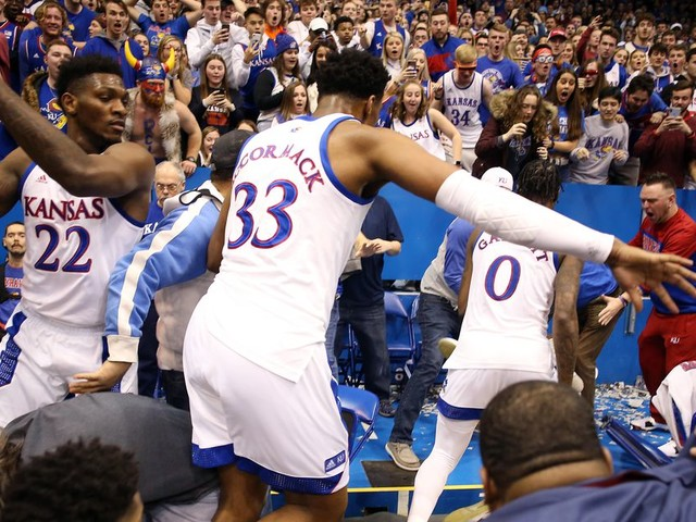 The Kansas basketball fight gave us some of the greatest photographs of a sports fight