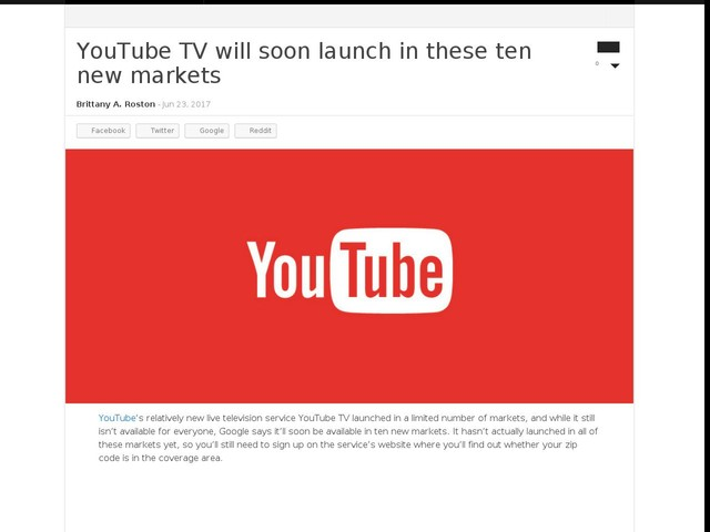 YouTube TV will soon launch in these ten new markets