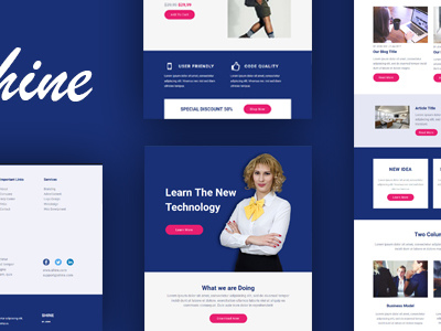 Shine Multipurpose Email + Online Builder (Email Templates)