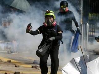 Tear gas, firebombs engulf Hong Kong university in new clash