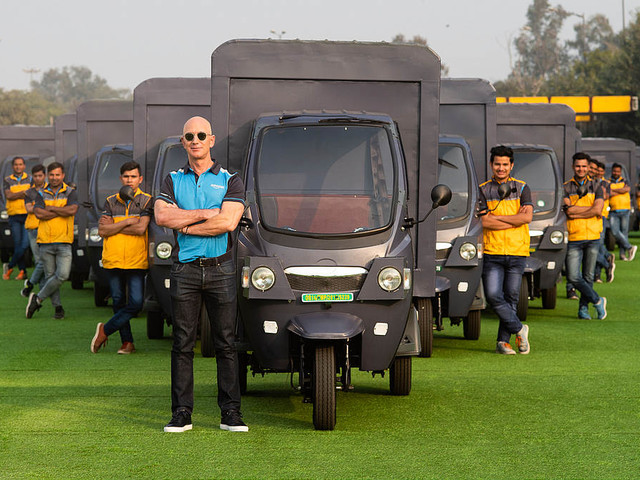 Amazon Starts Rolling Out Electric Delivery Rickshaws in India