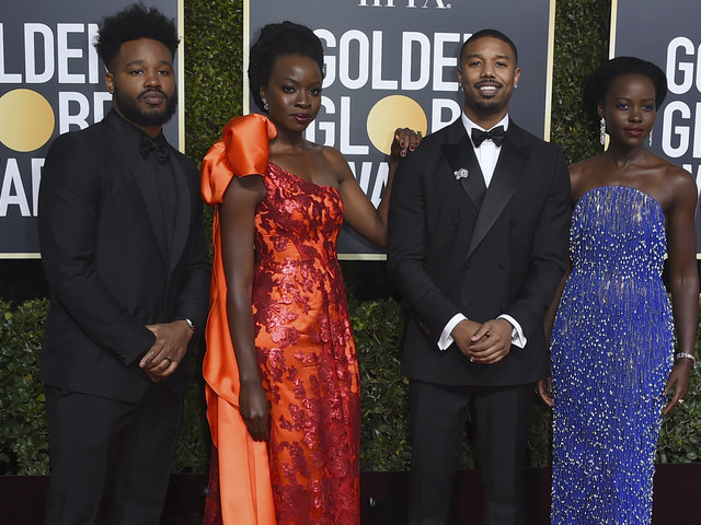 'Black Panther' Cast Slays Red Carpet At Golden Globes