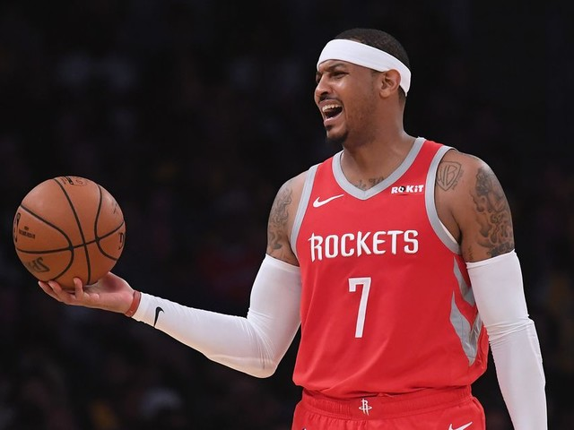 These stats show just how terrible Carmelo Anthony was with the Rockets