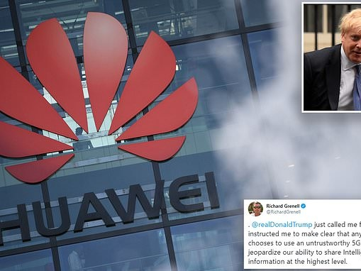 US ambassador warns on decision to hand Huawei role in 5G