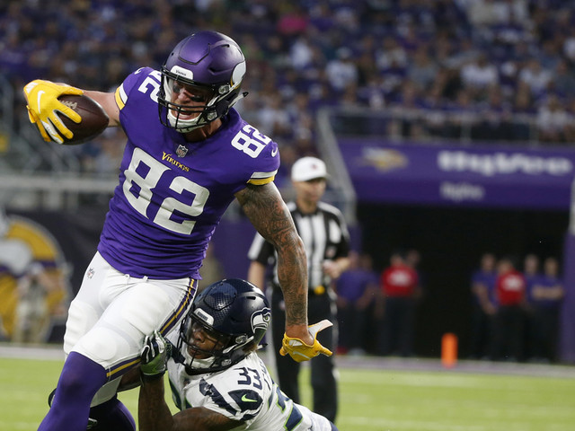 Vikings TE Rudolph: 'These guys expect to see me out here'