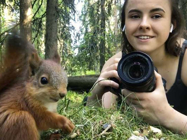 Woman Becomes Unlikely Mom To Group Of Wild Baby Squirrels