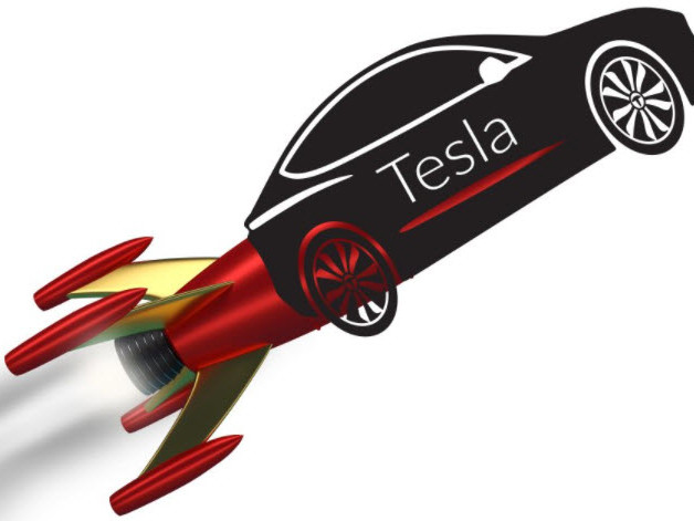 """Elon Musk's First Payload To Mars: His """"Midnight Cherry Tesla Roadster Playing Space Oddity"""""""