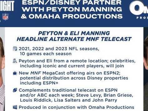 Peyton and Eli's 'all-Manning' MNF broadcast will either be amazing, or awful beyond belief