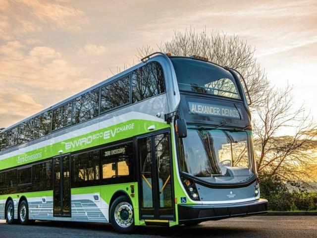 NFI Unveils its 1st Zero-Emission, 3-Axle Double Deck Bus for North America, the Alexander Dennis Enviro500EV CHARGE