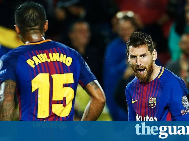 Champions League round-up: Messi hits 100th European goal as 10-man Barça win