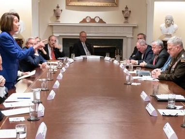 """Trump Responds After """"Do Nothing Democrats"""" Storm Out Of The Cabinet Room"""