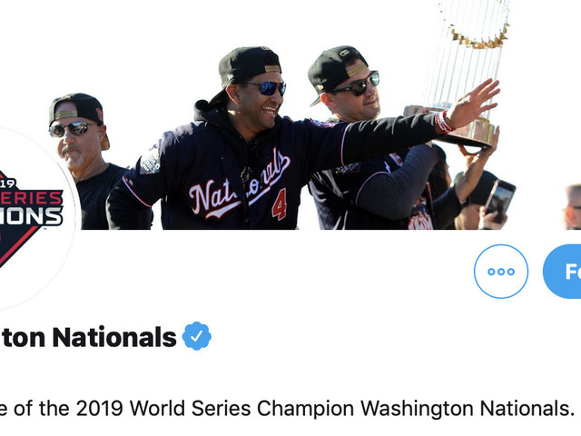 The Nats Twitter account is adding 'World Series champion' to every tweet and it's great