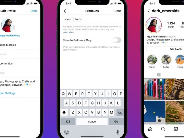 Instagram will let people list their pronouns on their profiles