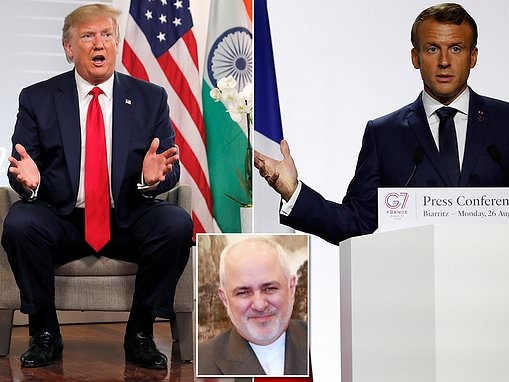 Trump says Macron asked for 'approval' for Iran's foreign minister to drop by Biarritz G7 summit